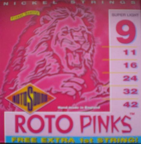 Roto Sound - Pinks - 9/42 Elektrická gitara - R 9 - Super Light