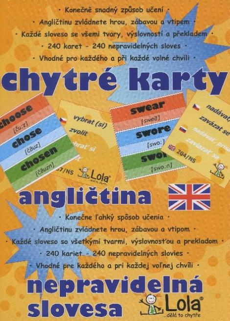 Chytré karty: Angličtina nepravidelná slovesa