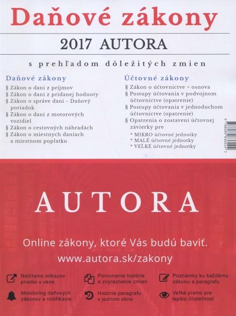 Daňové zákony 2017 autora
