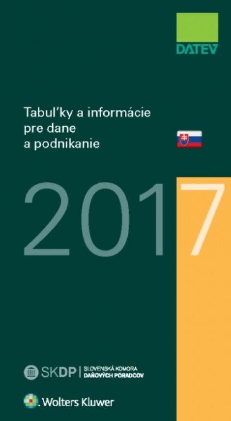 Tabuľky a informácie pre dane a podnikanie 2017 -