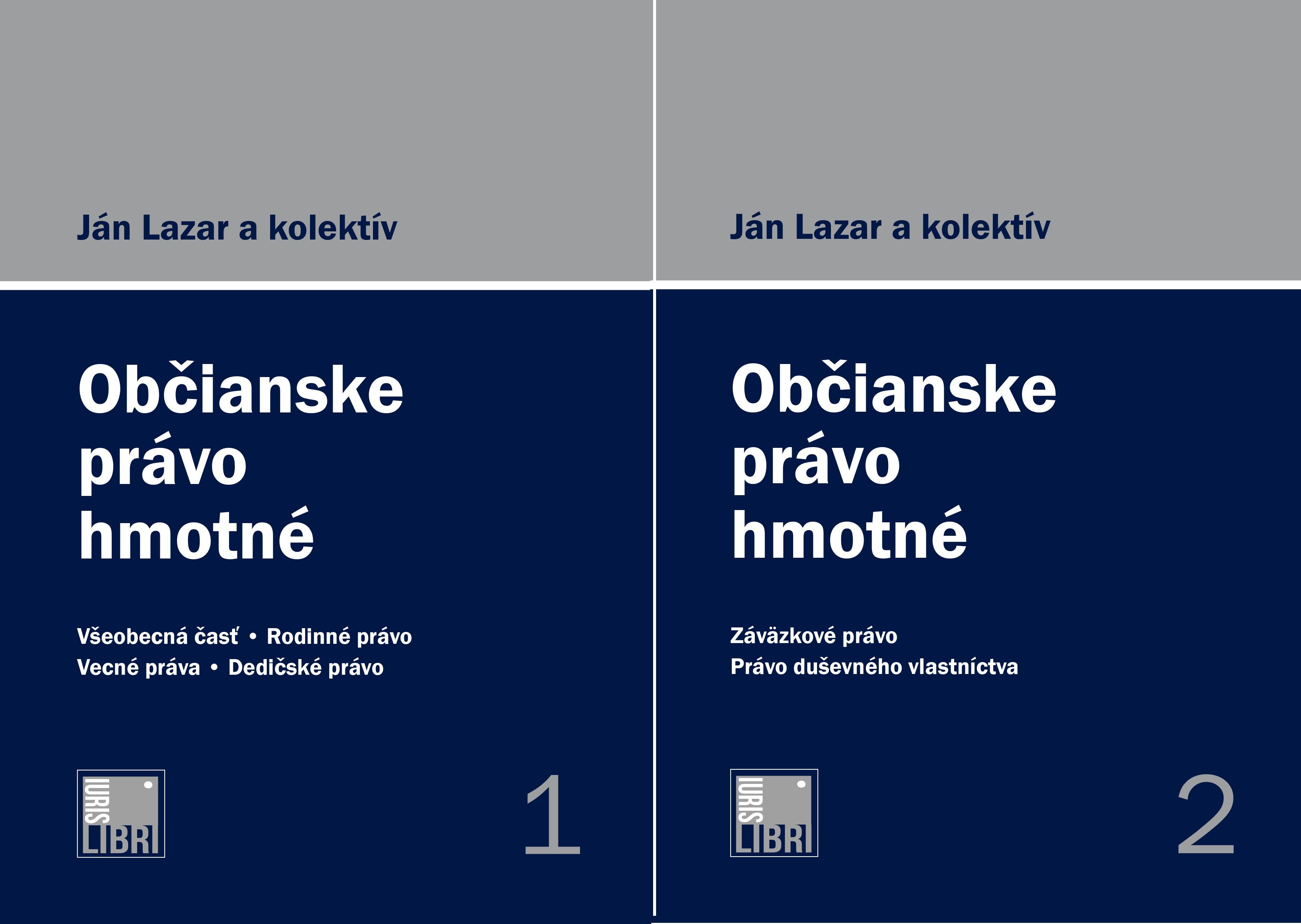 Občianske právo hmotné 1. a 2. zväzok