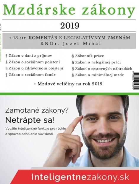 Mzdárske zákony 2019