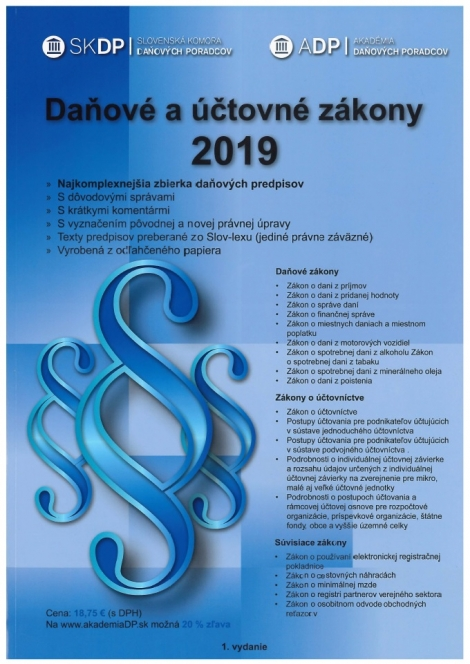 Daňové a účtovné zákony 2019 -