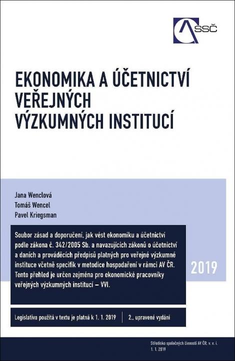 Ekonomika a účetnictví veřejných výzkumných institucí -