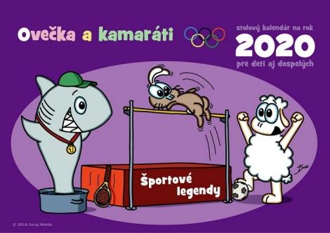 Ovečka a kamaráti 2020 ( Športové legendy ) - Stolný kalendár na rok 2020 pre deti aj dospelých