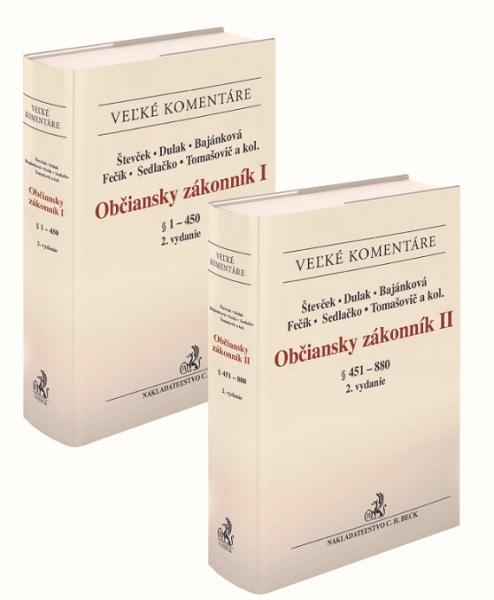 Občiansky zákonník I a II. zväzok.(komplet!) (2. vydanie)