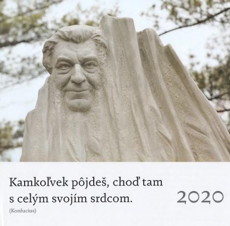 Kalendár 2020 (nástenný) - Kamkoľvek pôjdeš, choď tam s celým svojím srdcom. - Anton Srholec