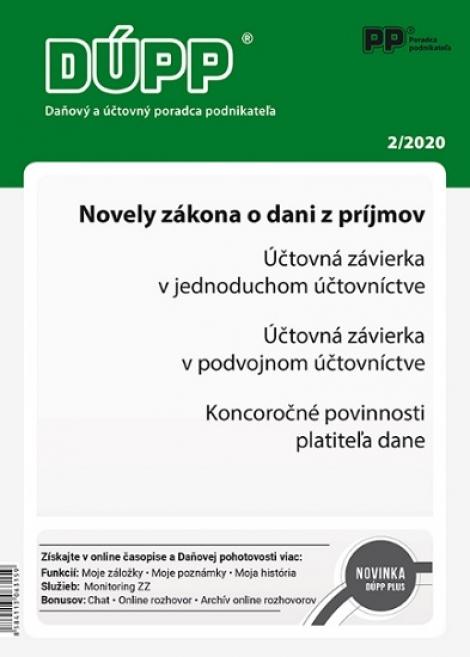 DUPP 2/2020 Novely zákona o dani z príjmov -