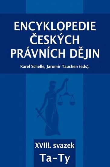 Encyklopedie českých právních dějin - XVIII. svazek