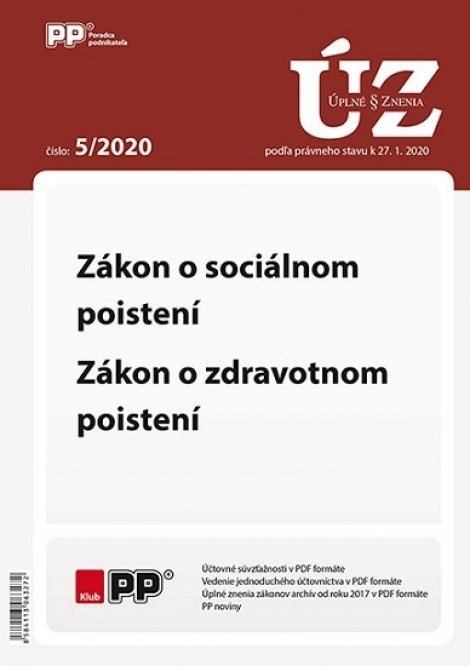 UZZ 5/2020 Zákon o sociálnom poistení, Zákon o zdravotnom poistení -