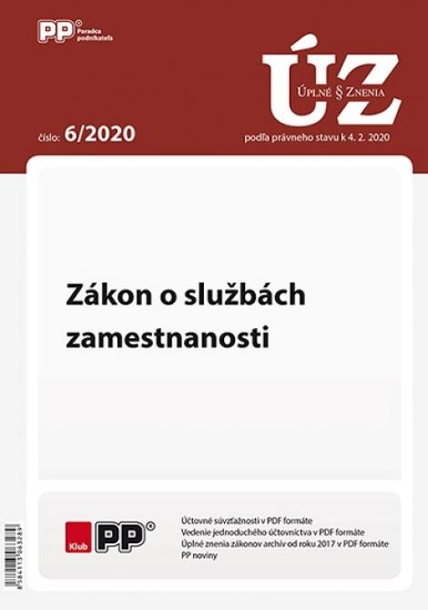 UZZ 6/2020 Zákon o službách zamestnanosti -