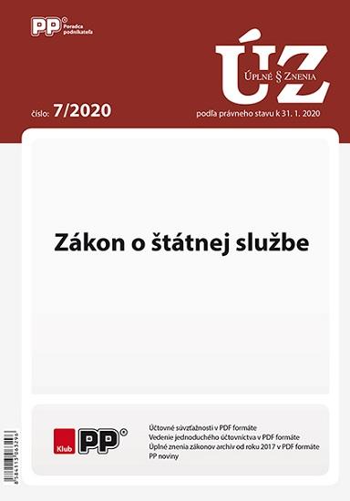 UZZ 7/2020 Zákon o štátnej službe