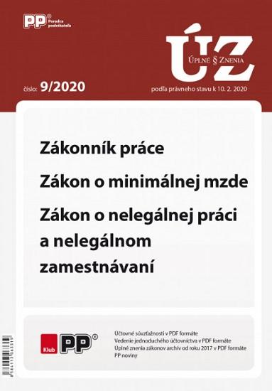 UZZ 9/2020 Zákonník práce, Zákon o minimálnej mzde, Zákon o nelegálnej práci a nelegálnom zamestnáva
