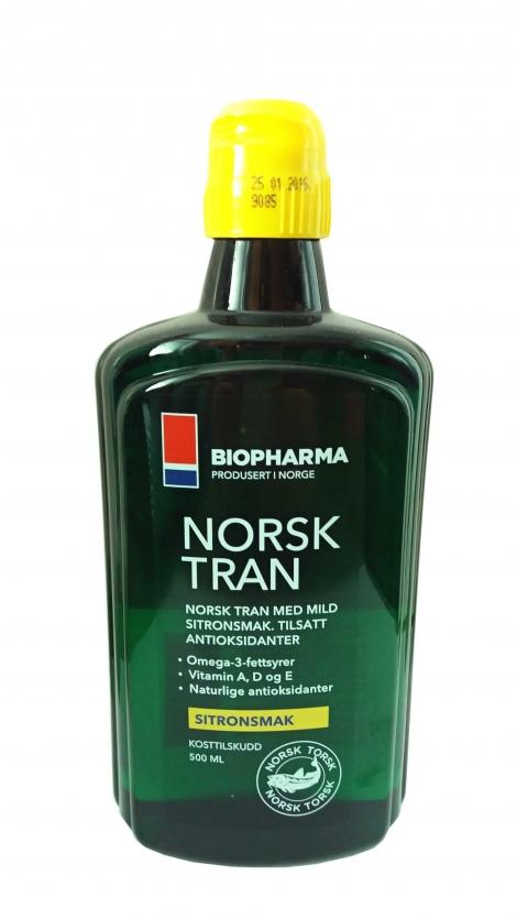 Olej Norsk Tran - Vitamín D... (250 ml)