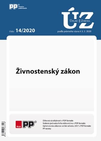 UZZ 14/2020 Živnostenský zákon