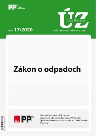 UZZ 17/2020 Zákon o odpadoch