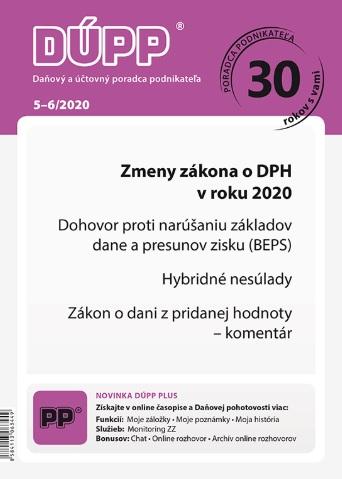 DUPP 5-6/2020 Zmeny zákona o DPH v roku 2020