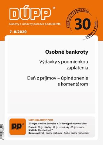 DUPP 7-8/2020 Osobné bankroty
