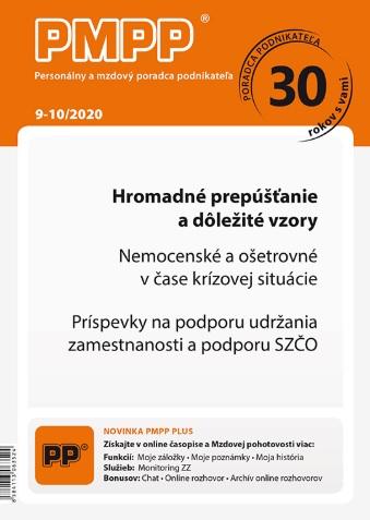 PMPP 9-10/2020 Hromadné prepúšťanie a dôležité vzory