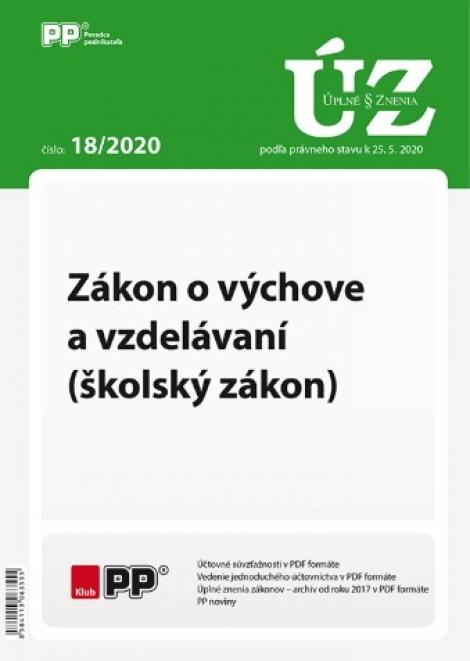 UZZ 18/2020 Zákon o výchove a vzdelávaní  (školský zákon) -