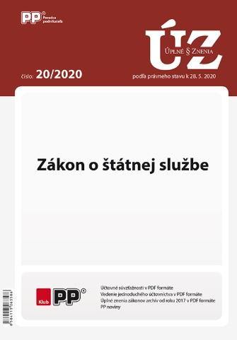 UZZ 20/2020 Zákon o štátnej službe