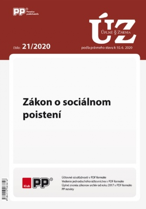UZZ 21/2020 Zákon o sociálnom poistení -
