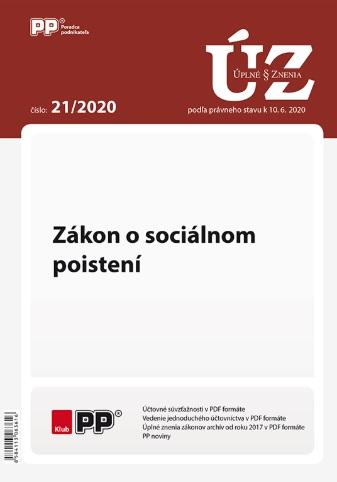 UZZ 21/2020 Zákon o sociálnom poistení