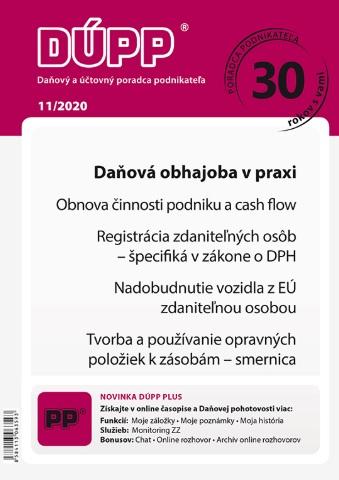 DUPP 11/2020 Daňová obhajoba v praxi