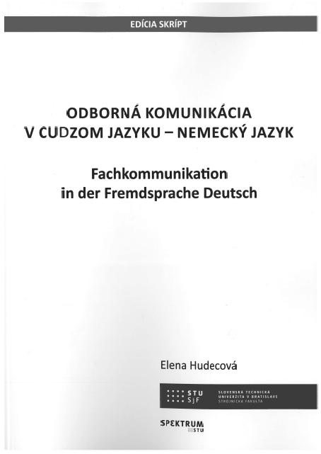 Odborná komunikácia v cudzom jazyku - Nemecký jazyk