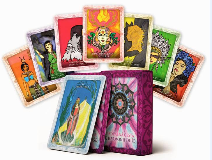 Hedvábná cesta k harmonii duše (kniha + 32 karet)