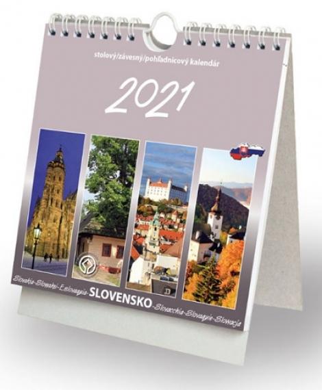 Slovensko 2021 - stolový, závesný, pohľadnicový kalendár