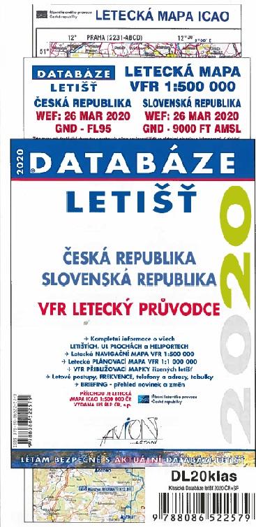 Databáze letišť 2020 - Česká a Slovenská republika / VFR letecký průvodce
