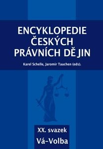 Encyklopedie českých právních dějin - XX. svazek - Vá-Volba