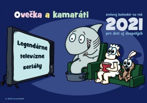 Ovečka a kamaráti 2021 (Legendárne televízne seriály) - Stolný kalendár na rok 2021 pre deti aj dospelých
