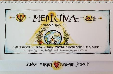 Medicína Slnka v srdci 2021 - Stolový kalendár - Sofia - Slnko v srdci