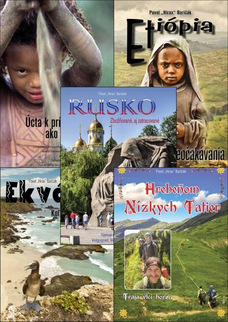 Hrebeňom Nízkych Tatier + Ekvádor + Etiópia + Rusko + Panama / Kostarika - Kolekcia 5-tich cestopisov