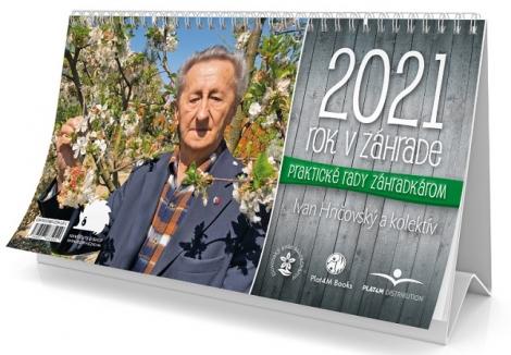 Kalendár 2021  - Rok v záhrade - stolový kalendár