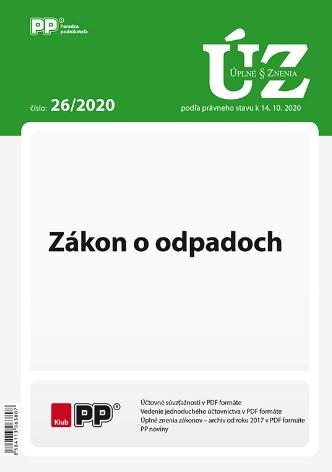 UZZ 26/2020 Zákon o odpadoch