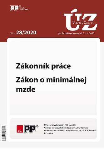 UZZ 28/2020 Zákonník práce, Zákon o minimálnej mzde