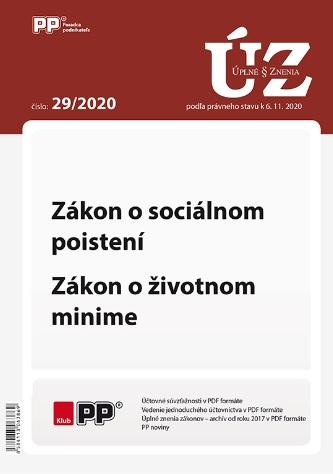 UZZ 29/2020 Zákon o sociálnom poistení, Zákon o životnom minime