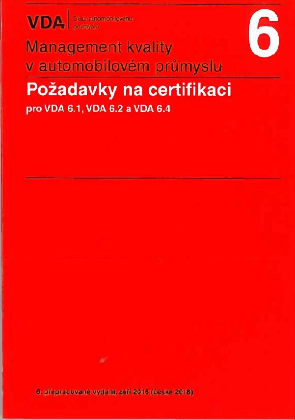 Management kvality v automobilovém průmyslu VDA 6 (6.vydání)