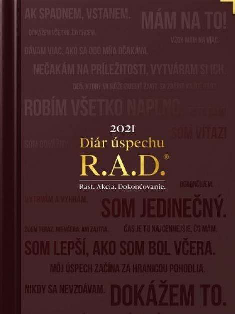 Diár úspechu 2021 - R.A.D. Rast. Akcia. Dokončovanie.
