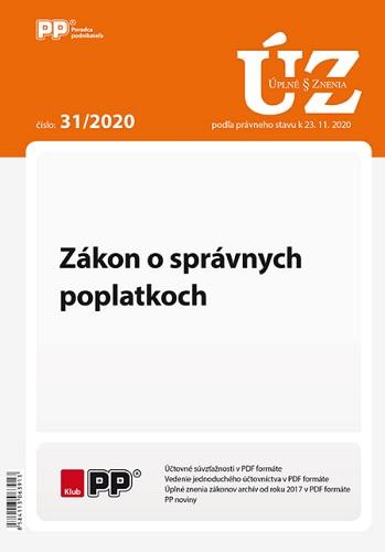 UZZ 31/2020 Zákon o správnych poplatkoch