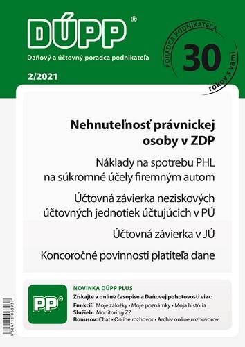 DUPP 2/2021  Nehnuteľnosť právnickej osoby v ZDP