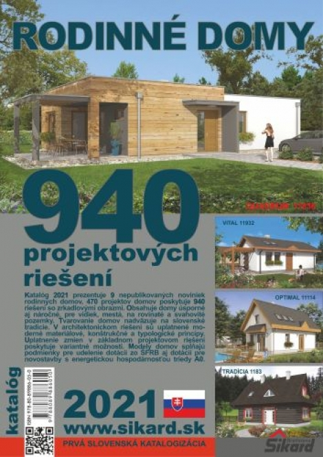 Rodinné domy 2021 - 940 projektových riešení