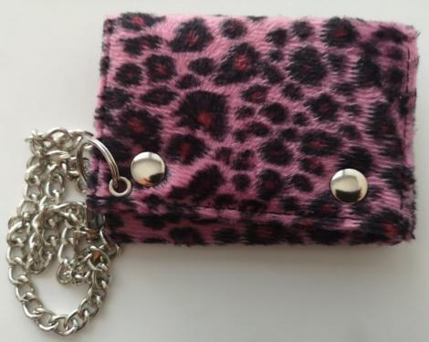 Leopard - Tkaninovo filcová peňaženka