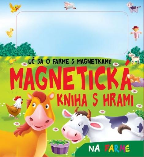 Magnetická kniha s hrami - Na farme -