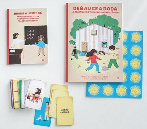 Učiteľský rómsko-slovenský balíček kučebnici Deň Alice a Doda -