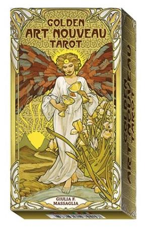 Golden Art Nouveau Tarot - 78 Tarot Cards with instruction