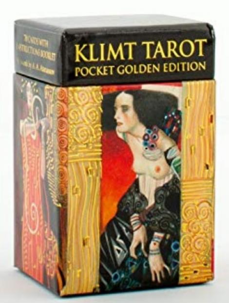 Klimt Tarot (Pocket Golden edition) Mini Tarot - 78 Cards with instructions Booklet
